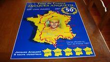Anquetil Jacques plaquette souvenir 50 ème anniversaire de sa première victoire