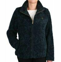 Pendleton women's deep pile Full Zip Dark Blue Sherpa fleece jacket size XL nwt