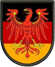 Wappen des Landes Brandenburg -Patch, Aufnäher, Pin ,Aufbügler.