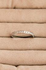 Platinum half diamond eternity ring - size J