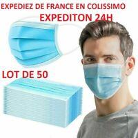50pcs Masque Masks NORMES CE ENVOIS EN 24H en colissimo
