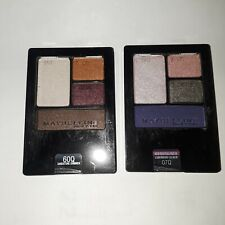 Lot of 2 Maybelline Eyeshadow Quads - Luminous Lilac & Sandstone Shimmer