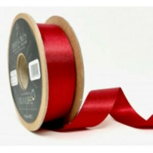 Red 15 Satin Ribbon by Berisfords Newlife Global 100% Recycled Standard