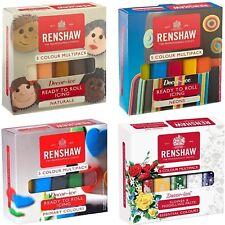 Renshaw Multipack listo para rodar 5 X 100g Fondant Glaseado Sugarpaste Multi Pack