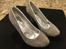 Marc DeFang Clear Crystal Pumps (Size 6 1/2)