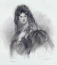 "H.T.Ryall/J.Hayter""Countess Rossi""London 1838-StSt. 13x12 cm (Pl. 21,5x15 cm)"