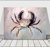 "JOHN RUSKIN - Beautiful Crab Illustration - CANVAS ART PRINT POSTER -10x8"""