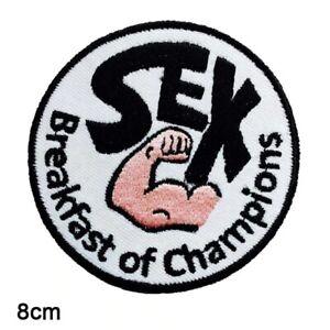 Sex Breakfast Of Champions Coat Jacket Gi Patch Martial Arts Bjj Kimono MMA