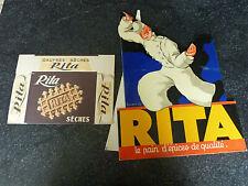 Ancienne Publicité présentoir  Carton Gaufres RITA Léon Dupin