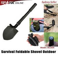 Outdoor Survival Foldable Shovel Spade Garden Camping Hiking Camp Compass Pick