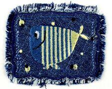 Jeans  Applikation zum Aufbügeln Bügelbild 1-643 Fisch