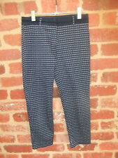 PRE LOVED LADIES SIZE 8 PORTMANS DESIGNER PANTS NAVY WHITE SPOTS DOTS CASUAL