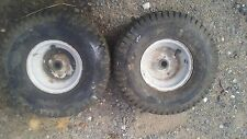 Two Front  Lawn Mower Tires and Rims 15 x 6 x 6