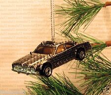 POLICE CAR Cruiser CHRISTMAS ORNAMENT Silver/Grey rare XMAS