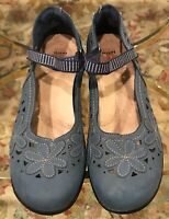 Womens EARTH SPIRIT Blue Mary Janes Loafers Shoes SIZE 12 M EUR 42