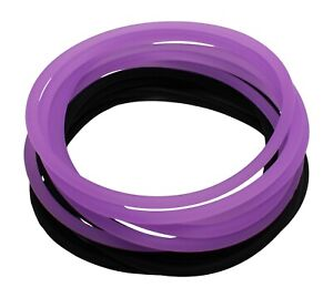 Soft Silicone Jelly Bracelet Set Extremely Strong & Stretchy Adult Size