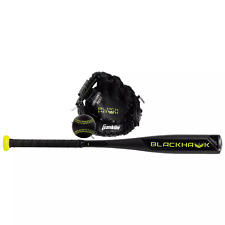 NEW Franklin T-ball 3 pc set w/ blk fielding glove Blackhawk aluminum bat ball