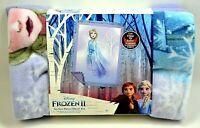 Disney Frozen II Elsa No Sew Fleece Throw Kit 43X55in. Cut Fringe and Tie Craft