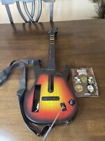 Nintendo Wii Guitar Hero Guitar Red Octane Starburst Guitar New Stickers Fender