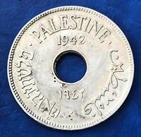 Israel Palestine British Mandate 10 Mils 1942 Coin - Key Date