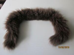 Pelzkragen  Pelzstreifen für Jacke Mantel Kapuze,braun