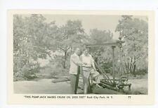 "RPPC ""Crude Oil Pump"" Rock City Park NY Olean—Cattaraugus County Vintage Photo"