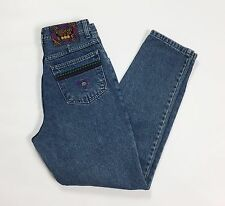 Mash rose mary jeans vintage donna mom hot vita sigarette usati blu retro T2089