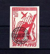 """POLOGNE Oflag Camp de Murnau Bloc """"D"""" Fischer timbre n° 4 oblitéré"""