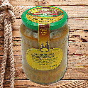Hausgemachter Wildgulasch - verzehrfertig - 2 Portionen - 680ml