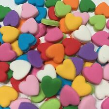 Edible Fondant Love Hearts  Cake Decorating Is Toppers Mix Colors X50