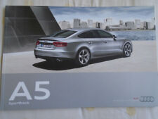 Audi A5 Sportback brochure Sep 2009 English text market?