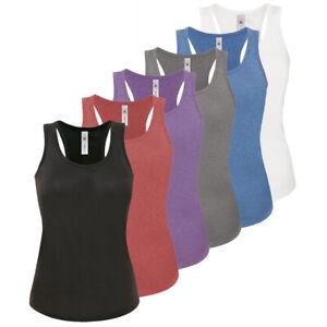 Womens Ladies Vest Cami Sleeveless Top T-shirt Base Layer Tank Yoga Gym Basic