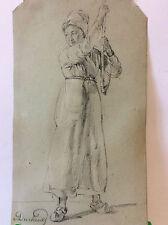 Portrait  fusain signé Ducland circa 1795