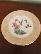 """Limited Edition 1973 Lenox """"Rufous Hummingbird"""" Plate by Boehm with Box"""