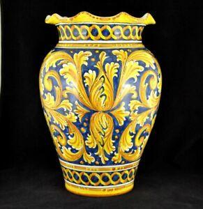PRESTIGIOSO PORTA OMBRELLI BAROCCO ceramica di Caltagirone