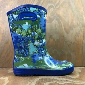 Hunter For Target Youth Print Tall Rain Boots Blue / Green - Kid's Size 4 (EUC)