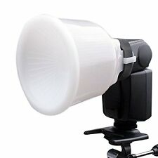 Universal White Cloud Lambency Flash Diffuser Reflector + Dome Cover For Canon