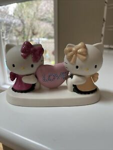 Precious Moments Sanrio Co. Hello Kitty & Mimmy Hand Painted Porcelain Sculpture