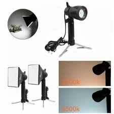 2Pcs 2700K/5500K LED Video Light Photo Lamp Studio DV Lighting Mini Tripod DSLR
