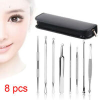 8Pcs Blackhead Remover Extractor Tool Kit For Spot Acne Pimple Comedone Blemish