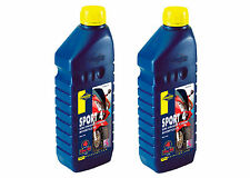 2 X 1 Litre Putoline Sport 4 Synthetic Motorcycle Oil 10w/30 Honda Recommended
