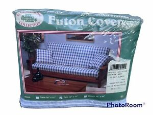"""NEW! Vintage 90s Elegant Home Collection Full Futon Cover Green USA 54""""W x 75""""L"""