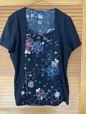 Baby Phat Patterned scrub top Xl Extra Large Nwot