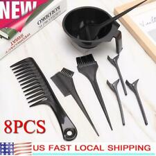 Professional Hair Dyeing Tool Highlights Comb Hair Clip Dyestuff Mixing Bowl Kit