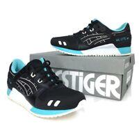 Asics Tiger Gel-Lyte III Black/White/Blue 1191A223 Men's Athletic Shoes NWB