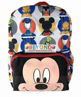 """Disney Mickey Mouse & Friends 16"""" Canvas Backpack Back to School Book Bag"""
