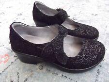 "ALEGRIA ""Ella"" ELL-551 Black Mary Jane Shoes size 38 or US 8"