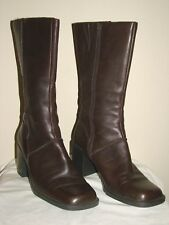 Bass Scarlet Womens Brown Leather Mid-Calf Boot - Size 8.5M