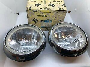 Marchal Headlight Set Renault Saviem Alpine 4CV Citroen Dyane Genuine NOS
