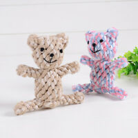 Cotton rope bear Toys Dog Chew toy Resistance To Bite Pet Puppy Toy HU